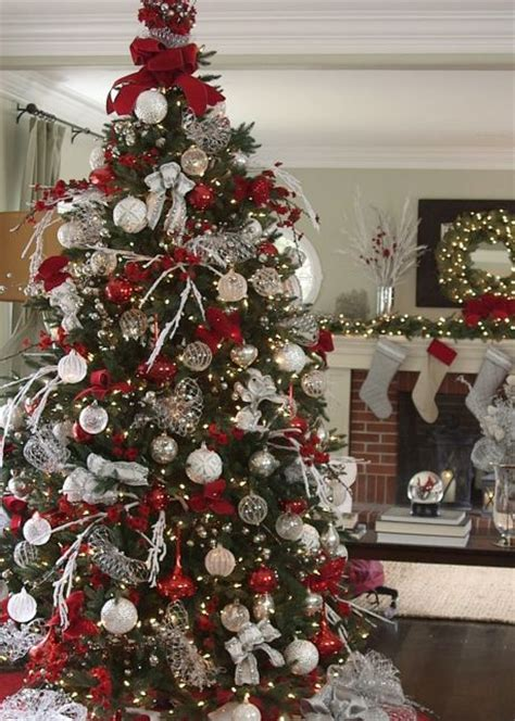 ideas  silver christmas tree  pinterest