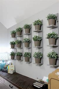 Wall-Mounted Plant Shelves DIY