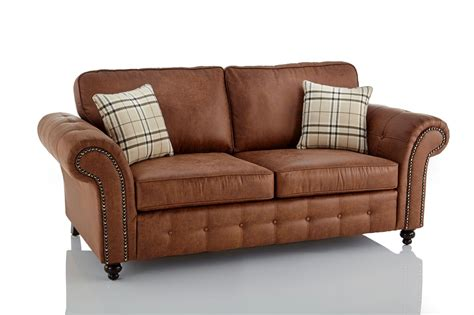 Cheap 3 2 Seater Sofa Deals by Oakland Faux Leather 3 2 Seater Sofa Combo In Brown