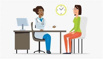 Patient Doctor Animation Talking Visit Clipart Patients