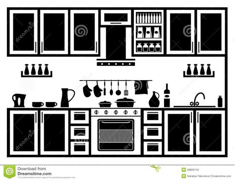 clipart vectors icon of kitchen stock vector image of appliances