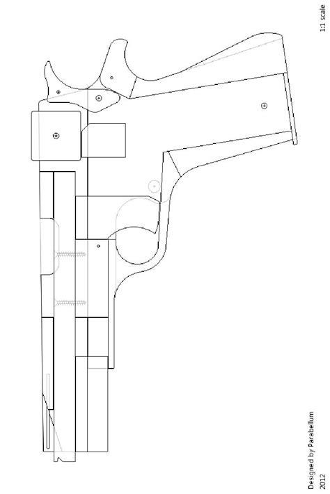 rubber band gun template m1911 rubber band gun cnc projects guns band and rubber bands