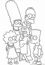 Bart Simpson Colouring Coloring sketch template