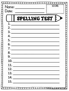 Spelling test template new calendar template site for Free printable spelling test template