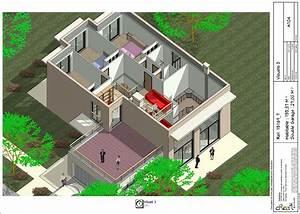 plan villa r1 With maison en 3d gratuit 7 exemple modele maison axial
