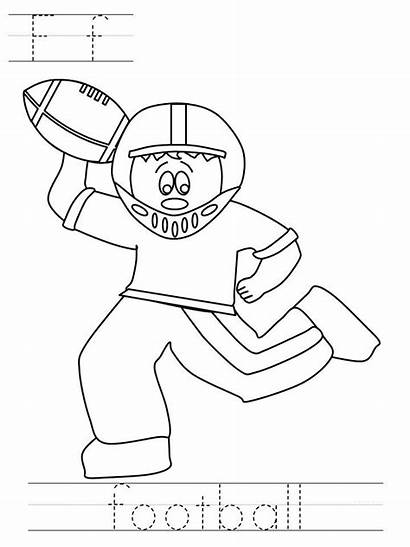 Coloring Football Pages Bowl Super Printable Sports