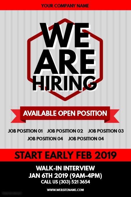 copy  hiring poster postermywall
