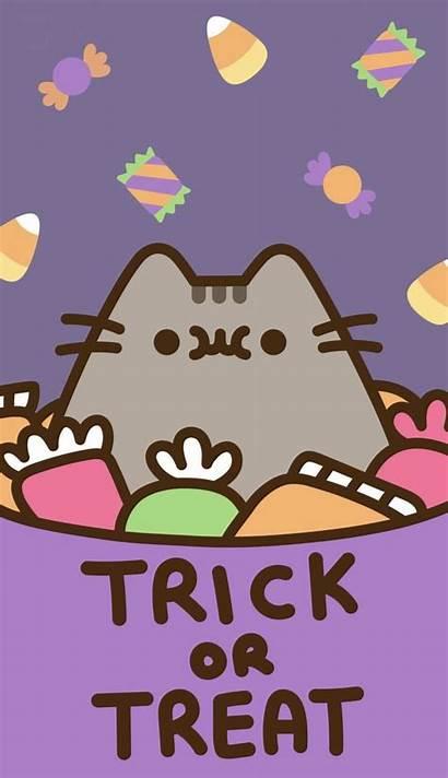 Pusheen Halloween Kawaii Cat Wallpapers Backgrounds Fondos