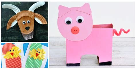 15 farm animal crafts for preschoolers crafts on sea 826 | farm animal crafts for preschoolers and kindergarten