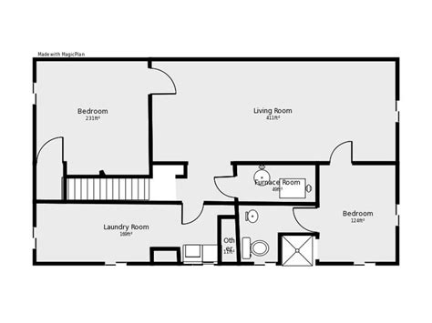 basement floor plans basement floor plan flip flop stairs and furnace room