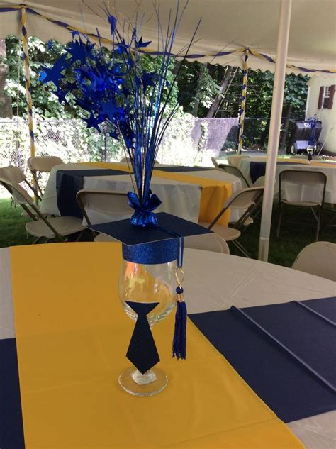 royal blue table decorations royal blue and gold graduation party by ev events and
