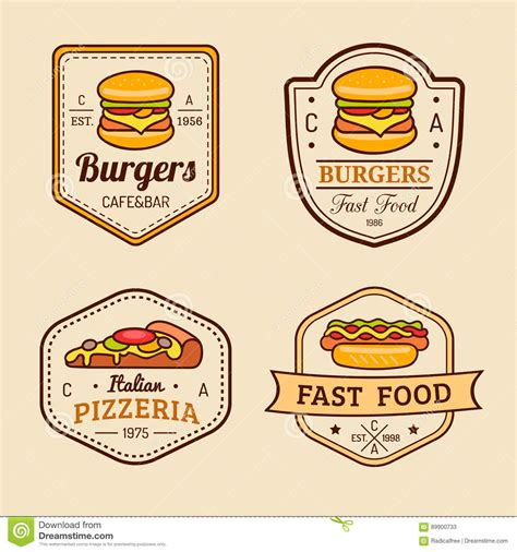 cuisines vintage retro food logos pixshark com images galleries