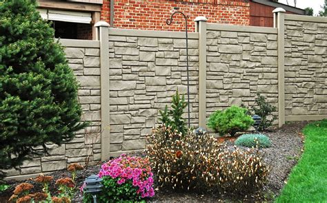 durable fencing eco friendly and durable faux stone fence by simtek