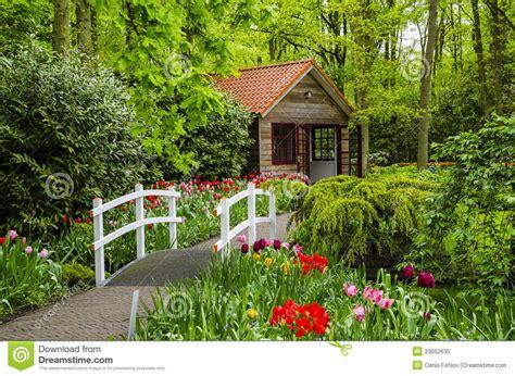 casa de campo  ponte branca em jardins de keukenhof