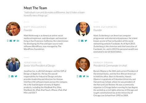 Enhancing The Usability Of Meet The Team Pages