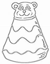 Coloring Pages Pyramid Toy sketch template
