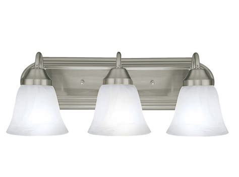 Bathroom Light Fixtures : Brushed Nickel Light Bathroom Vanity Bath Light Bar