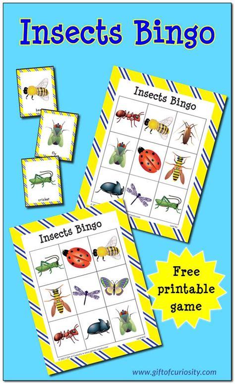 insects bingo free printable teaching preschool bug 423 | 09996a36cbc13835cda0fdd0e4673270