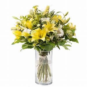 Bouquet De Fleurs Interflora : bouquet lys et statice bouquet romantique jaune interflora ~ Melissatoandfro.com Idées de Décoration