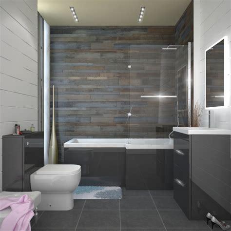 patello grey shower bath suite buy   bathroom city