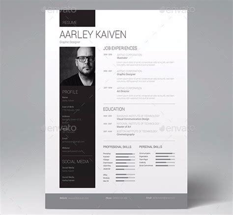 minimal creative resume templates psd word ai