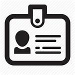 Icon Identity Identification Document Card Icons Badge
