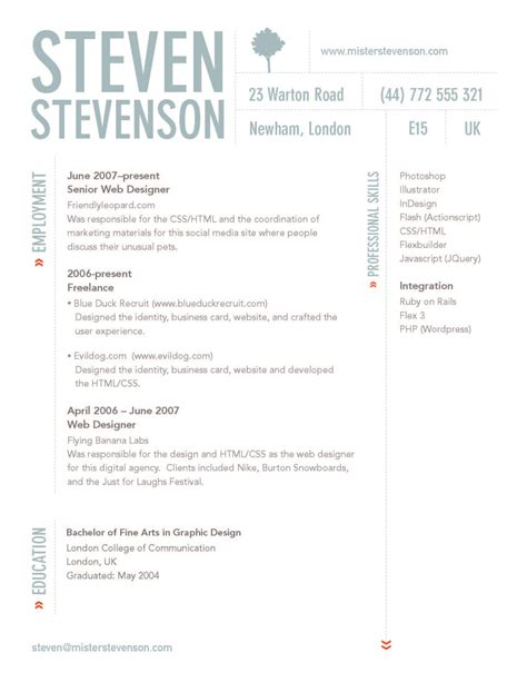 Design Resume Exles by Wilson Personal Professional Development Ppd Creative Cv Existing Exles And
