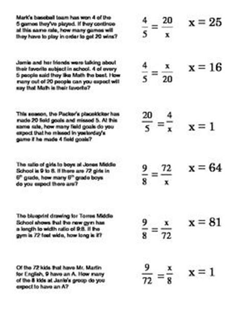 Ratio And Proportion Worksheet Answers Worksheets For All  Download And Share Worksheets Free