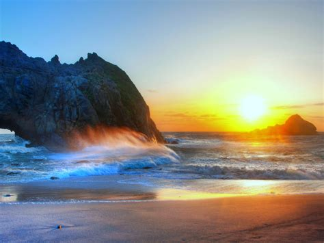Beach Sunset Wallpaper and Background Image | 1600x1200 ...