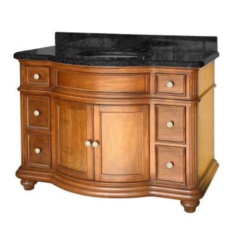 home depot bathroom vanities 48 pegasus 48 in bath vanity with galaxy granite top and