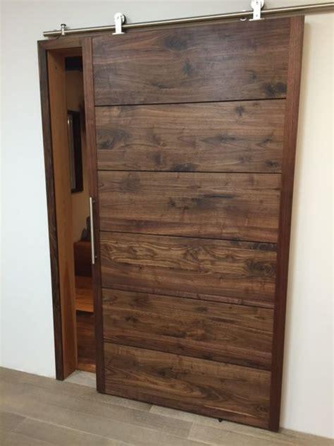 black walnut barn door wph barn doors pinterest