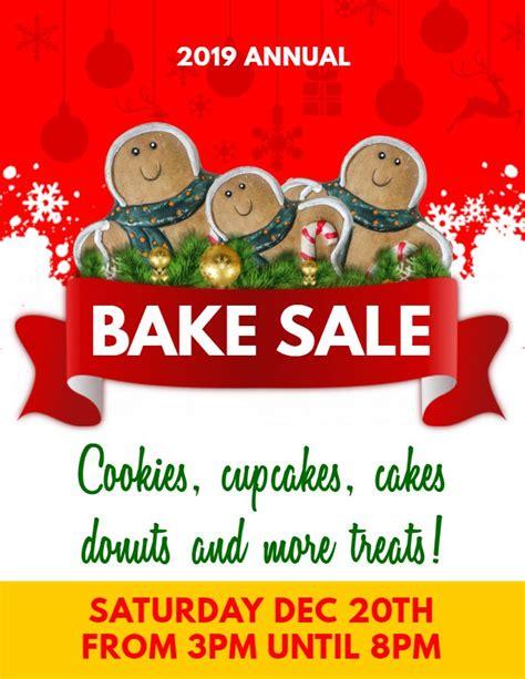 printable christmas bake sale ad flyer template