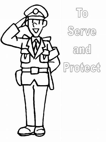 Coloring Police Pages Officer Safety Sheet Want