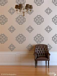 classic wall pattern vinyl wall decal classic medallions With good look medallion wall decals