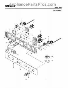 Parts For Bosch Hbn665  Fascia Panel Parts