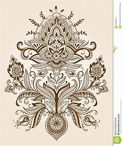 Mehndi clipart lotus - Pencil and in color mehndi clipart ...