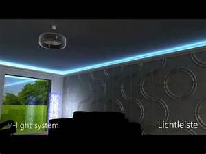Led Indirekte Deckenbeleuchtung : led lichtleiste direkte und indirekte beleuchtung youtube ~ Watch28wear.com Haus und Dekorationen