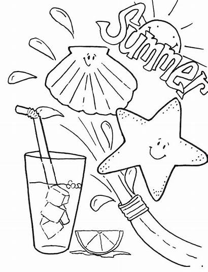 Coloring Summer Pages Clothes Summertime Drink Clothing
