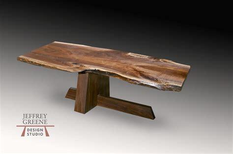 Shinto Live Edge Wood Slab Dining Room Table  Jeffrey Greene