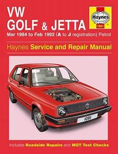 Haynes Manual Vw Golf  U0026 Jetta Mk 2 Petrol  Mar 1984