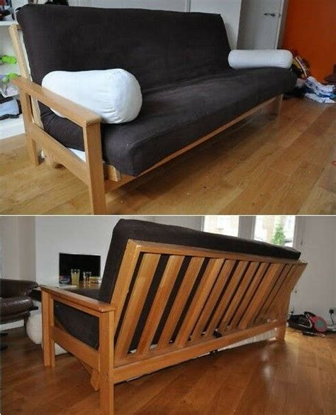Futons sofa beds can be transformed from beds into sofas whenever you wish. FUTON COMPANY 3 Seater Solid Oak Double Sofa Bed Mattress ...