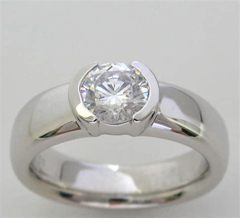 bezel setting ring setting semi bezel set design
