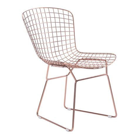 rose gold desk chair wire modern dining chair rose gold