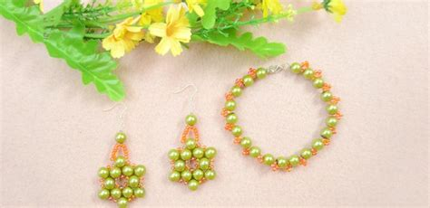 How To Make Olive Pearl Bead Jewelry With Orange Seed
