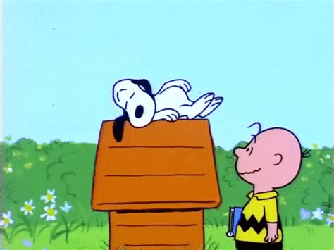 tired good morning gif  peanuts find share  giphy