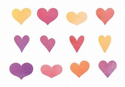 Hearts Watercolor Vector Clipart Edit Graphics