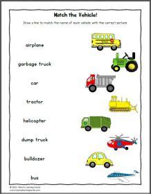 transportation worksheets mamas learning corner