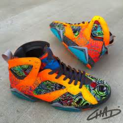designer nike shoes battery acid custom painted nike 7 39 s