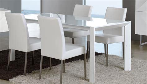 chaise salle a manger en bois 8 table de salle manger extensible verre et mtal blanc design