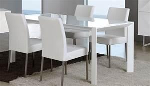 Table Verre Extensible : table manger verre et mtal blanc extensible design nara ~ Teatrodelosmanantiales.com Idées de Décoration
